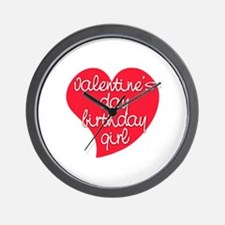 Valentine Day Birthday Girl Wall Clock