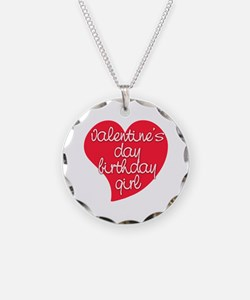 Valentine Day Birthday Girl Necklace