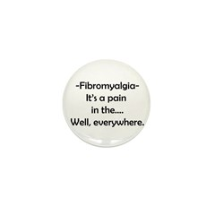 Fibromyalgia is a Pain in the Mini Button (100 pac