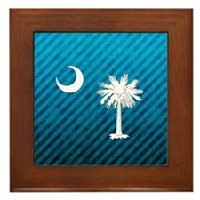 South Carolina Palmetto Flag Framed Tile