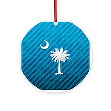 South Carolina Palmetto Flag Ornament (Round)