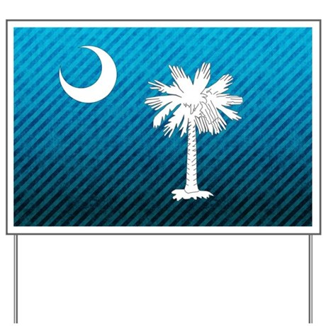 South Carolina Palmetto Flag Yard Sign