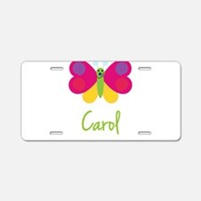 Carol The Butterfly Aluminum License Plate