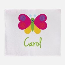 Carol The Butterfly Throw Blanket