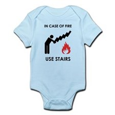 In Case of Fire Use Stairs Infant Bodysuit
