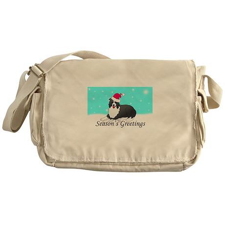 Border Collie Messenger Bag