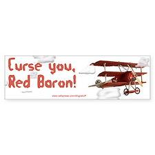 """""""Red Baron"""" Bumper Bumper Sticker"""