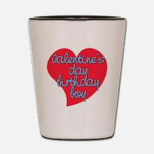Valentine Day Birthday Boy Shot Glass