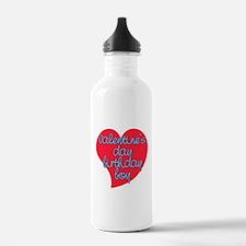 Valentine Day Birthday Boy Water Bottle