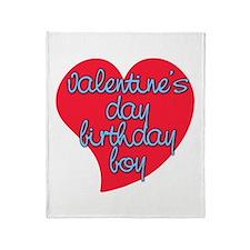 Valentine Day Birthday Boy Throw Blanket