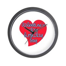 Valentine Day Birthday Boy Wall Clock