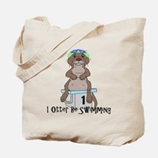 Cool River otter Tote Bag