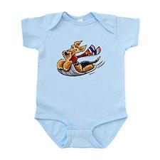 Airedale Terrier Sledding Infant Bodysuit