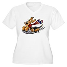 Airedale Terrier Sledding T-Shirt