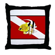 dive fish Throw Pillow