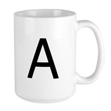 The Letter A Mug