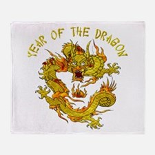 Year Of The Dragon Throw Blanket