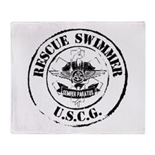 Rescue Swimmer (Ver 2) Throw Blanket