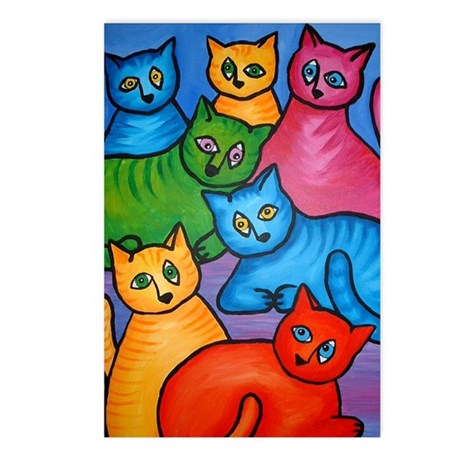 One Cat Two Cat Postcards (Package of 8)