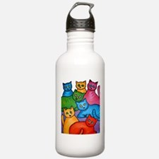 One Cat Two Cat Water Bottle