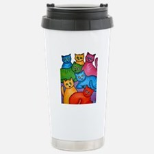 One Cat Two Cat Stainless Steel Travel Mug