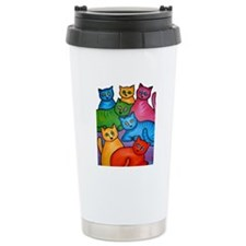 One Cat Two Cat Travel Mug