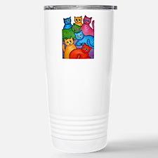 One Cat Two Cat Travel Mug