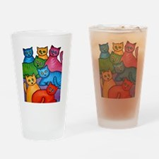 One Cat Two Cat Drinking Glass