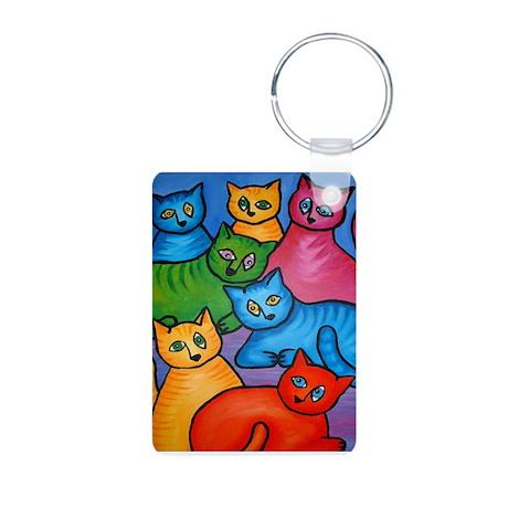 One Cat Two Cat Aluminum Photo Keychain