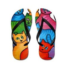One Cat Two Cat Flip Flops
