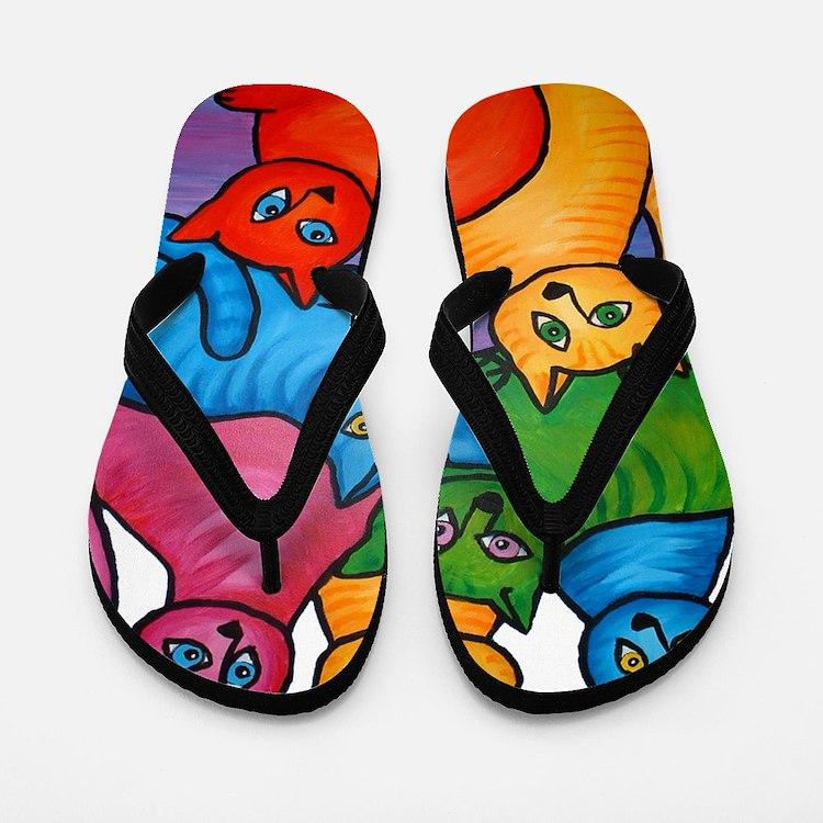 One Cat Two Cat Flip Flops