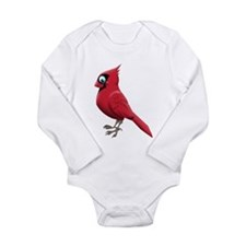 Red Smiley Face Long Sleeve Infant Bodysuit