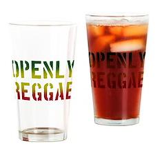 Openly Reggae Drinking Glass