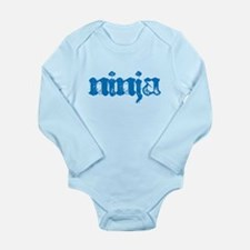 Ninja Blue Long Sleeve Infant Bodysuit