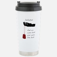 Defeated. Stainless Steel Travel Mug