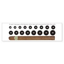 Cigar Ring Gauge Guide Bumper Bumper Sticker