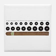 Cigar Ring Gauge Guide Tile Coaster