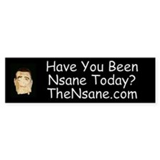 Have You Been Nsane Today? Bumper Bumper Sticker