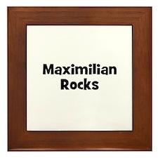 Maximilian Rocks Framed Tile