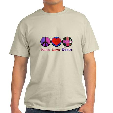 Peace Love Nurse Light T-Shirt