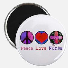 Peace Love Nurse Magnet