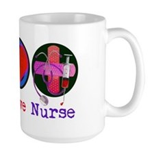Peace Love Nurse Mug