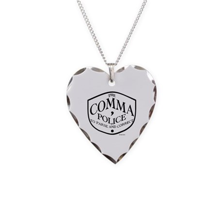 Comma Police Necklace Heart Charm