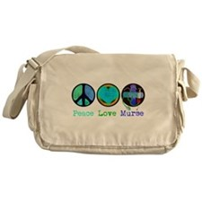 Peace Love Murse Messenger Bag