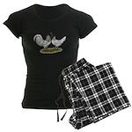 Owl Beard Chickens Women's Dark Pajamas