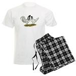 Owl Beard Chickens Men's Light Pajamas