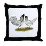 Owl Beard Chickens Throw Pillow