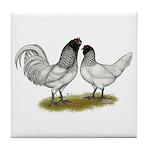 Owl Beard Chickens Tile Coaster