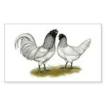Owl Beard Chickens Sticker (Rectangle 10 pk)