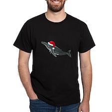 Santa - Whale Dark T-Shirt